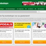 Het nieuwe menu van Top-aanbiedingen.nl