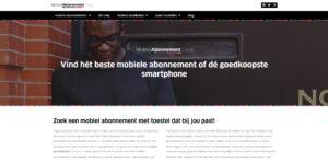 Mobielabonnement.shop de vergelijker voor mobiele abonnementen