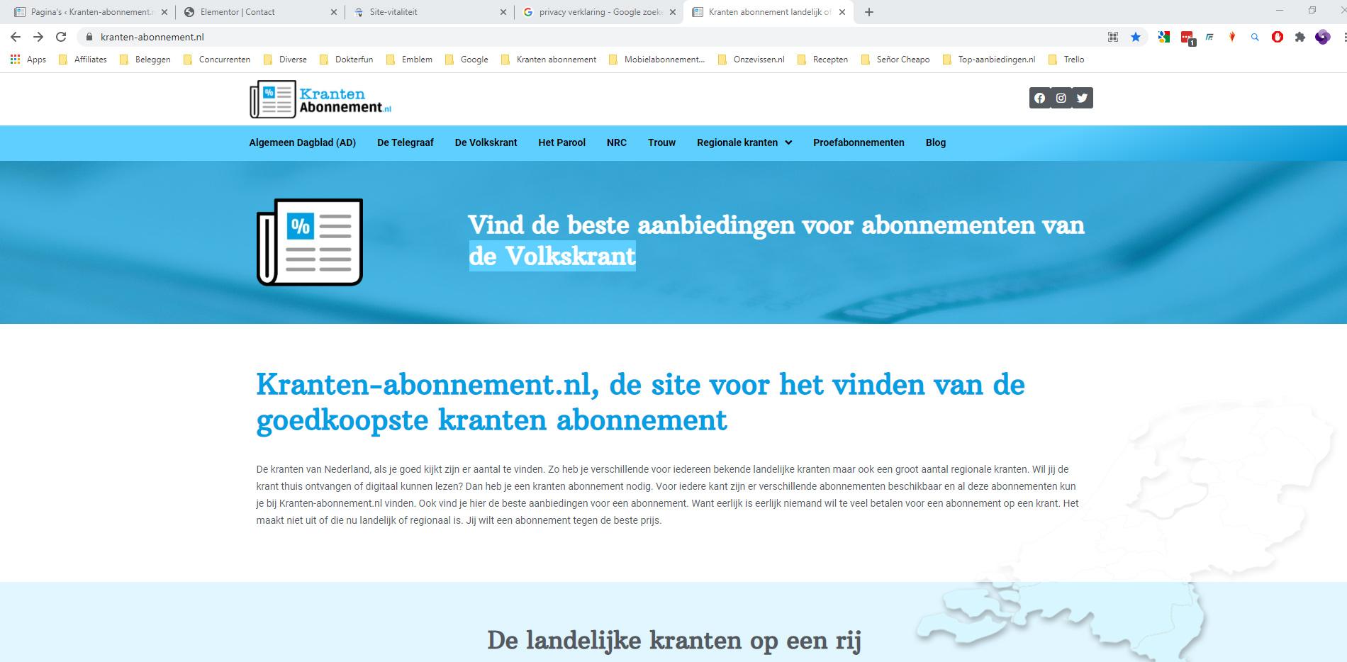 Kranten-abonnement.nl staat sinds vandaag live